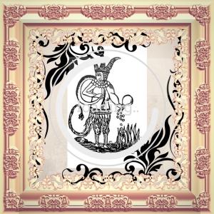 Это Люцифуг Рофокаль (на козлиных лапах и с хвостом).