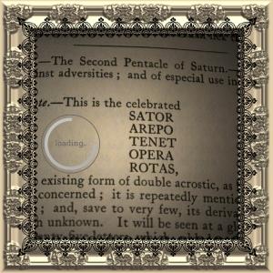 두 번째 Saturn pentacle은 유명한 Sator Arepo 광장으로 알려져 있습니다.