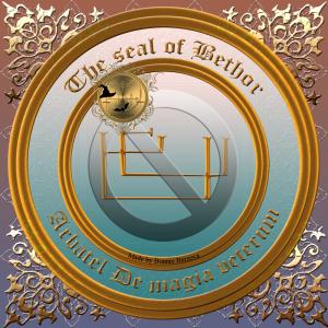 Detta är sigillet av Bethor från Arbatel De magia veterum. Häxkonst och magi.