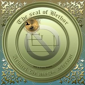 Den Olympiska Guden Bethor är beskriven i Arbatel De magia veterum och detta är hans sigill. Häxkonst och magi.