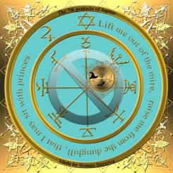 Detta är den sjunde pentakeln av Jupiter från Clavicula Salomonis. Häxkonst och magi.