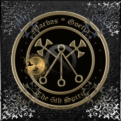 Demon Marbas is described in the Goetia and this is his seal.