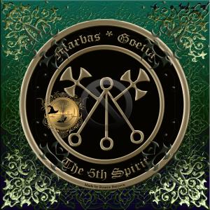 Demonen Marbas beskrivs i Goetia och detta är hans sigill.