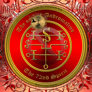 Demon Andromalius is described in the Goetia and this is his seal.