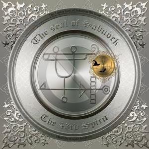 Dämon Sabnock wird in der Goetia beschrieben und dies ist sein Siegel.