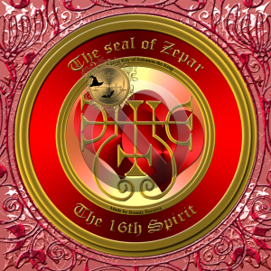 Zepar is the 16th spirit of Goetia and he is ranked as a Duke. This is his seal.
