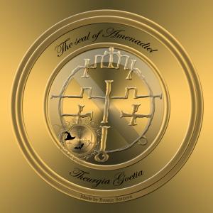これは、Goetia TheurgiaのAmenadielの印章です。アメナディエルは西の皇帝であり、Usiel、Malgaras、Darochielを統治しています。