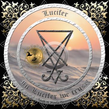 Demonen Lucifer är beskriven i Grimorium Verum och detta är hans sigill. Häxkonst och magi.