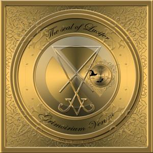 Demonen Lucifer finns beskriven i Grimorium Verum och detta är hans sigill.