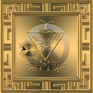 Grimorium Verum中描述了惡魔Lucifer,這是他的印章。