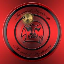 Detta är sigillet av demonen Agalierap från Grimorium Verum. Häxkonst och magi.