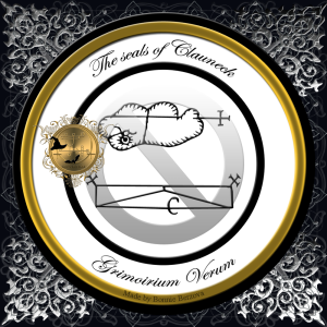 来自Grimorium Verum的恶魔Clauneck有两个海豹。两种密封都可以在Grimorium Verum中找到。