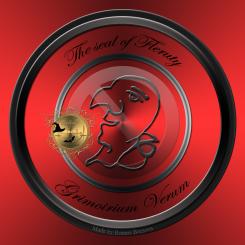 Detta är sigillet av demonen Fleruty från Grimorium Verum. Häxkonst och magi.