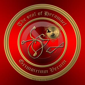 Dämon Heramael wird im Grimorium Verum beschrieben und dies ist sein Siegel.