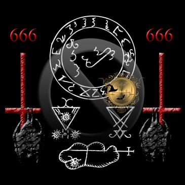 Dessa är sigillen av demonerna Lucifer och Clauneck från Grimorium Verum. Häxkonst och magi.