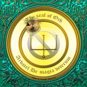 Олимпийский бог Окх описан в Арбателе Де магия ветерум и это его печать.