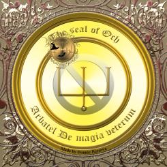 Guden Och är beskriven i Arbatel De magia veterum och detta är hans sigill. Häxkonst och magi.