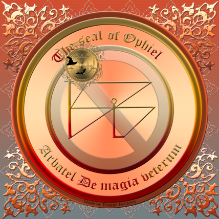 Detta är sigillet av Ophiel från Arbatel De magia veterum. Häxkonst och magi.