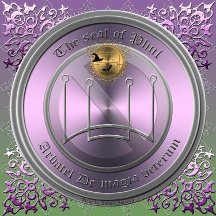 Detta är sigillet av Phul från Arbatel De magia veterum. Häxkonst och magi.