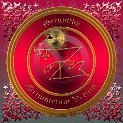 Detta är sigillet av demonen Sergutthy från Grimorium Verum. Häxkonst och magi.