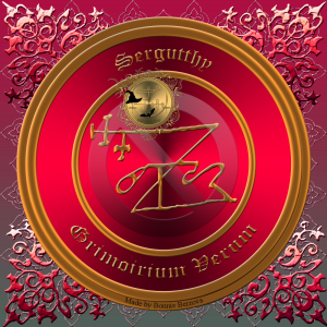 Демон Сергутти описан в Grimorium Verum. Это его печать.