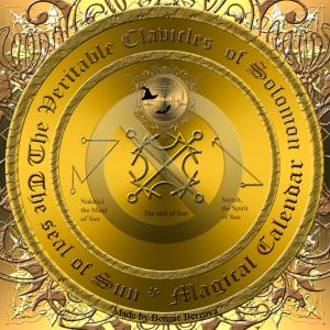 """Detta är den planetariska talismanen av Sol. Talismanen beskrivs också i """"The Veritable Clavicles of Solomon""""."""