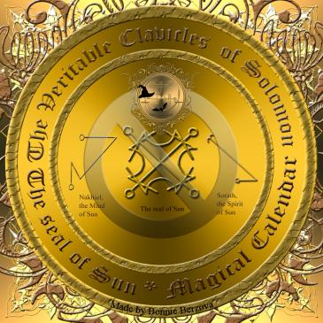 Detta är den planetariska talismanen av Sol. Häxkonst och magi.