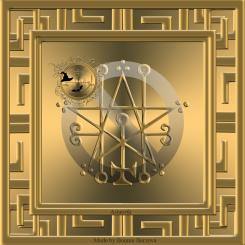 Demonen Astaroth är beskriven i Goetia och detta är hans sigill. Häxkonst och magi.