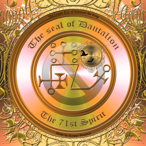 Demon Dantalion is described in the Goetia and this is his seal.