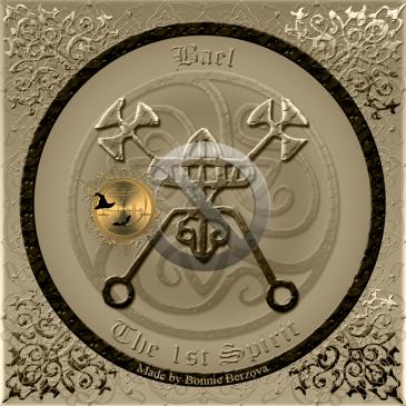 Detta är sigillet av demonen Bael från Goetia. Häxkonst och magi.
