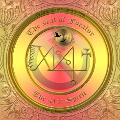 Demonen Focalor finns beskriven i Goetia och detta är hans sigill. Häxkonst och magi.