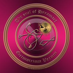 Detta är sigillet av demonen Heramael från Grimorium Verum. Häxkonst och magi.