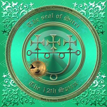 Demonen Sitri är beskriven i Goetia och detta är hans sigill. Häxkonst och magi.