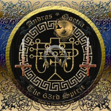 Detta är sigillet av demonen Andras från Goetia. Häxkonst och magi.