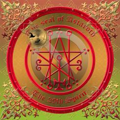 Demonen Astaroth beskrivs i Goetia och detta är hans sigill. Häxkonst och magi.