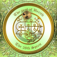 Demonen Berith är beskriven i Goetia och detta är hans sigill. Häxkonst och magi.