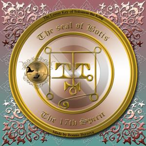Dämon Botis wird in der Goetia beschrieben und dies ist sein Siegel.