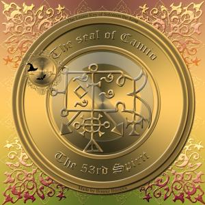 惡魔Camio在Goetia中有描述,這是他的印章。