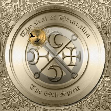 Demonen Decarabia finns beskriven i Goetia och detta är hans sigill. Häxkonst och magi.