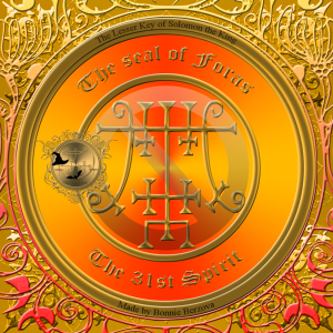 Demonen Foras är beskriven i Goetia och detta är hans sigill.