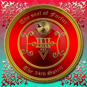 這是來自Goetia的Furfur的印章。