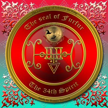 Demonen Furfur beskrivs i Goetia och detta är hans sigill. Häxkonst och magi.