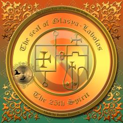 Demonen Glasya-Labolas finns beskriven i Goetia och detta är hans sigill. Häxkonst och magi.