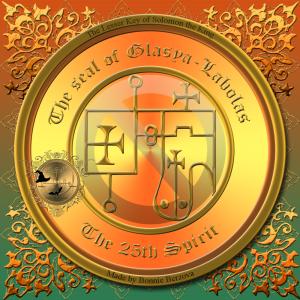 Dämon Glasya Labolas wird in der Goetia beschrieben und dies ist sein Siegel.