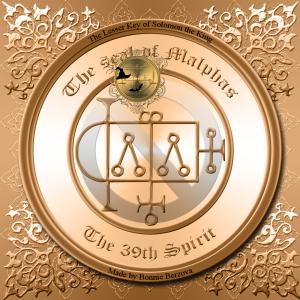Demonen Malphas är beskriven i Goetia och detta är hans sigill. Häxkonst och magi.