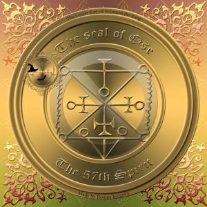 Demonen Ose beskrivs i Goetia och detta är hans sigill.