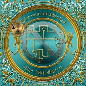 Dämon Stolas wird in der Goetia beschrieben und dies ist sein Siegel.