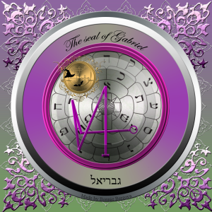 Dies ist das Siegel des Erzengels Gabriel, des Herrschers von Jessod.