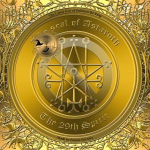 Demonen Astaroth finns beskriven i Goetia och detta är hans sigill.