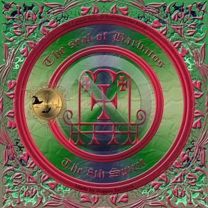 Dämon Barbatos wird in der Goetia beschrieben und dies ist sein Siegel.
